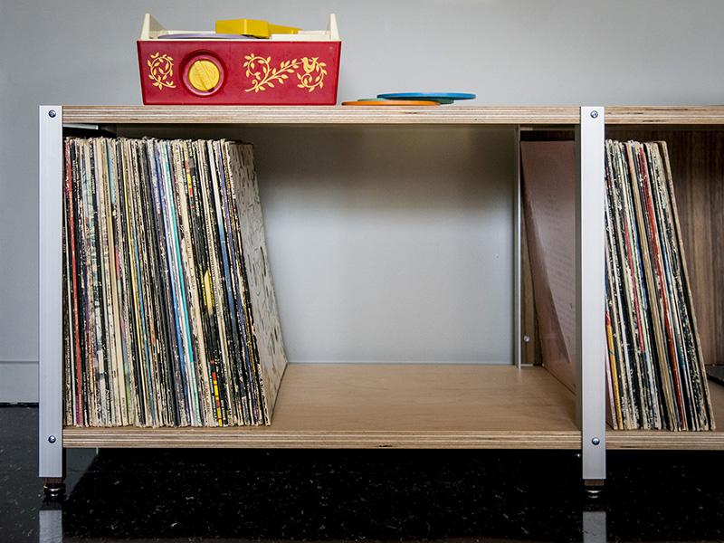 The Cssu Lp1 Lp2 Vinyl Storage Bench And Tower